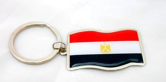 Amazon.com: Unisex Souvenir Egipto metal epoxi Bandera país ...