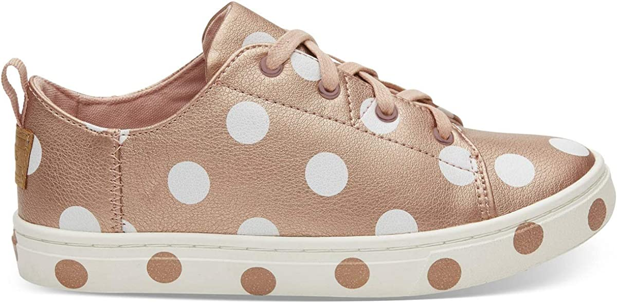 TOMS Kids Girl's Lenny (Little Kid/Big Kid) Rose Gold Pearlized Synthetic Leather/Dots