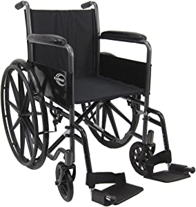 Karman Lightweight wheelchair with removable footrest, 18""