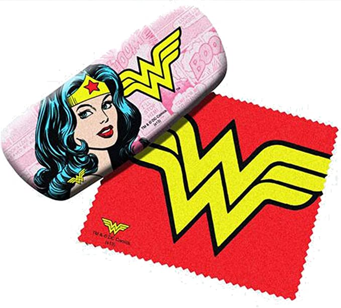 Wonder Woman Eyeglass Hard Case w/ Matching Lens Cloth: Amazon.es: Ropa y accesorios