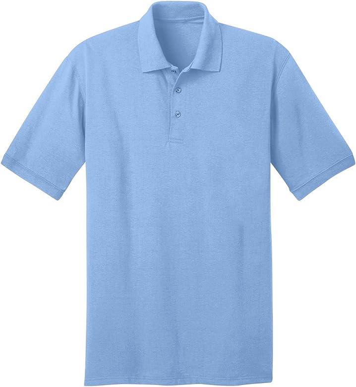 Comfortable Port /& Company Youth Polo T Shirts Short Sleeve Jersey Blend Uniform Kids Boys Color Light Heather Gray Size M
