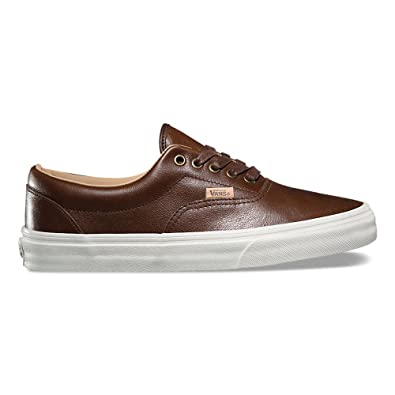 74ec934c37 Image Unavailable. Image not available for. Color  Vans Era (Lux Leather)  Fashion Sneakers Shaved Chocolate Porcini Size 6.5 Men