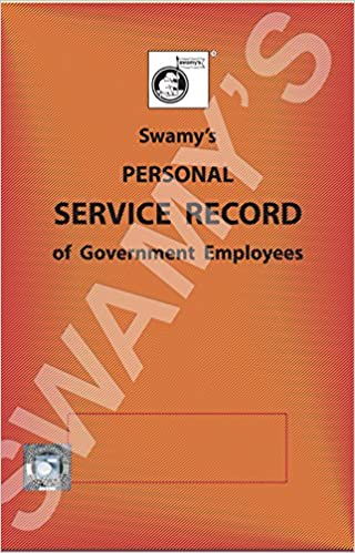 buy swamy s personal service record book online at low prices in