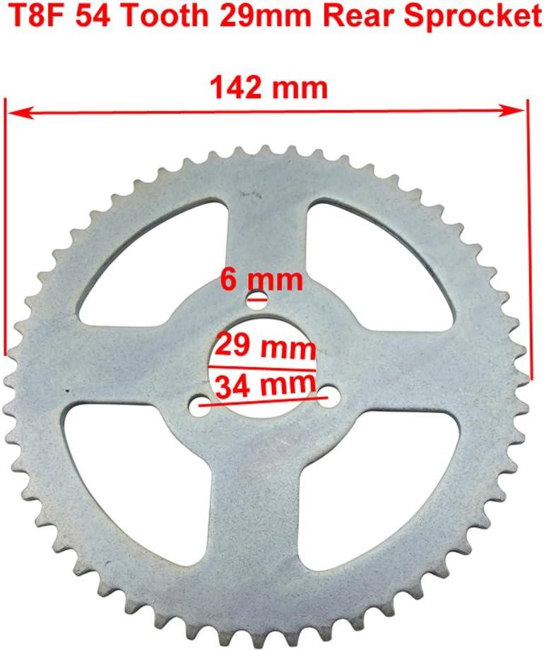 XLJOY Rear Chain Sprocket for 47 49cc Pocket Bike Mini Moto Pit Quad ATV T8F 54 Tooth
