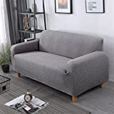 GIANCO FERRO Decorative Elastic Sofa Cover Solid Color Fashion Sofa Slipcovers For living Room Stretchable Couch Cover Cushion(Chair, Grey)