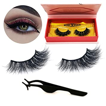 c3437bfef5e UBEIYI 3D Mink Lashes Hand-made Dramatic Makeup Strip Lashes 100% Fur Fake  Eyelashes