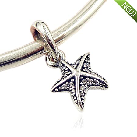 a7007252d PANDOCCI 2017 Summer Collection Tropical Starfish Pendant Authenitc 925  Sterling Silver DIY Fits for Pandora Bracelets Jewelry: Amazon.co.uk:  Kitchen & Home