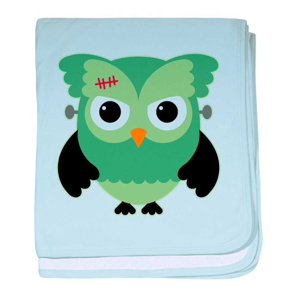 Truly Teague Baby Blanket Spooky Little Owl Frankenstein Monster - Sky Blue