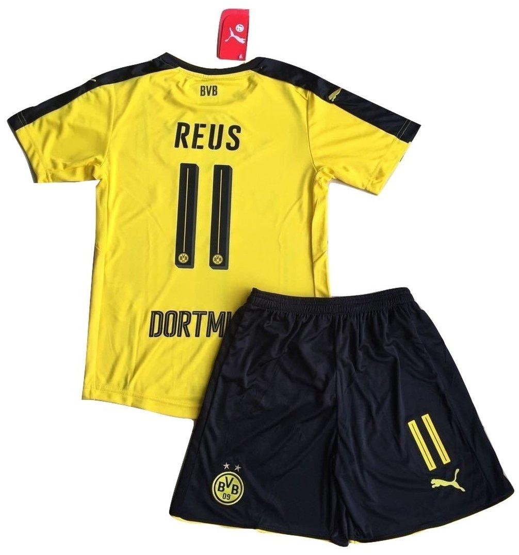 Borussia Dortmund 2016-2017 Reus #11 Kids//Youths Home Soccer Jersey /& Shorts Set 9-10 years