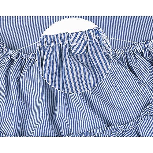 ISASSY - Vestido - sujetador bandeau - Sin mangas - para mujer Azul