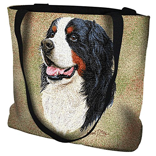 Pure Country Weavers - Bernese Mountain Dog Hand Finished Large Woven Tote Bag Cotton ()
