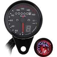 SFONIA Odómetro de Motocicleta LED Velocímetro Digital Instrumento