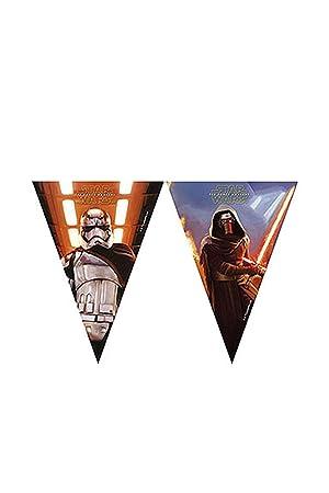 Partido 1 Wimpelkette * STAR WARS VII * para los niños y de cumpleaños temática // Conjunto plástico de la bandera Banner Kids Cumpleaños Lema La ...
