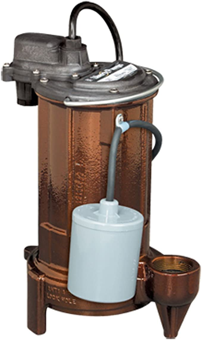 Liberty Pumps 237 VMF Submersible Sump Pump with Vertical Magnetic Float 1//3 hp