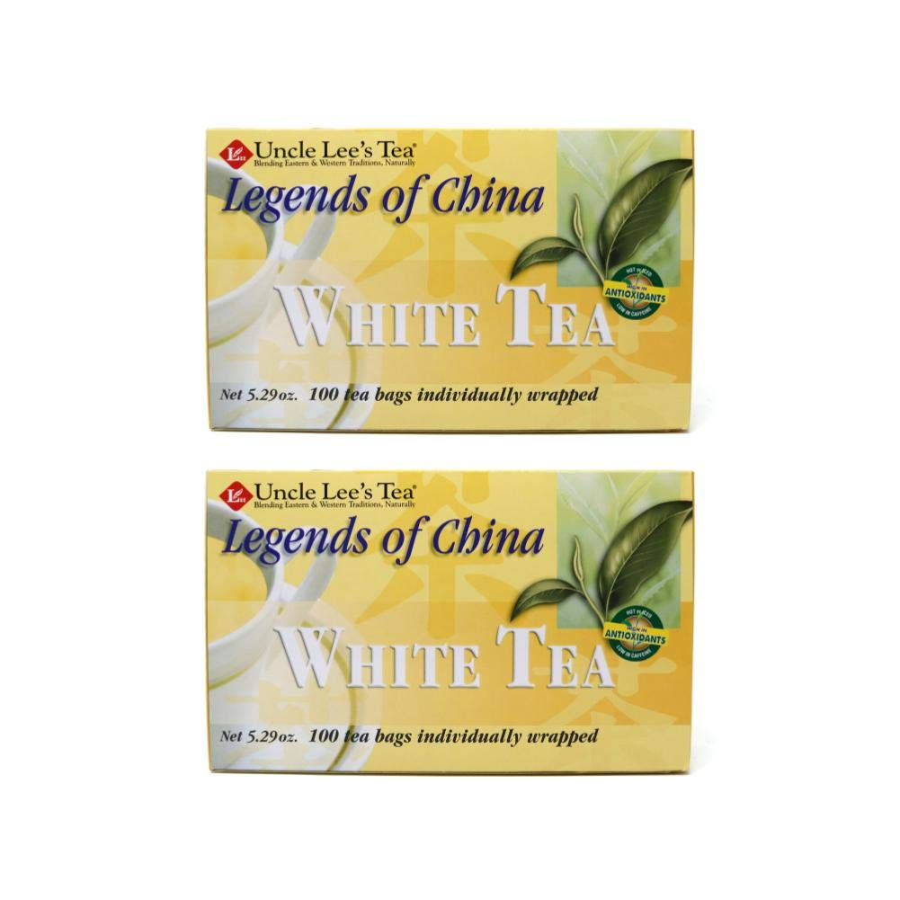 Legends of China White Tea 100 Bags (Pack of 2) by Uncle Lee's Tea