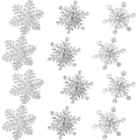 Copo De Nieve Para Colorear Cambio De Luces Led Copos De