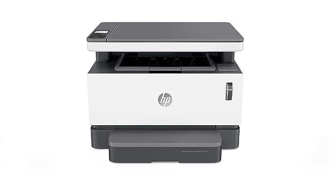 HP Neverstop Laser MFP 1201N - Impresora Multifunción (20 ppm A4, WiFi, Copiar, Escanear, USB), Color Blanco, 48.1 x 42.1 x 39 cm