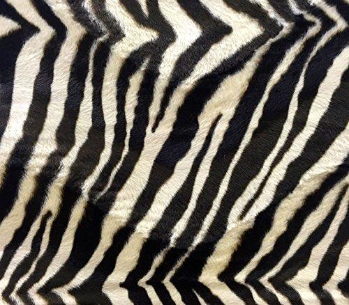 Velboa Faux Fur Fabric ZEBRA BEIGE / 60