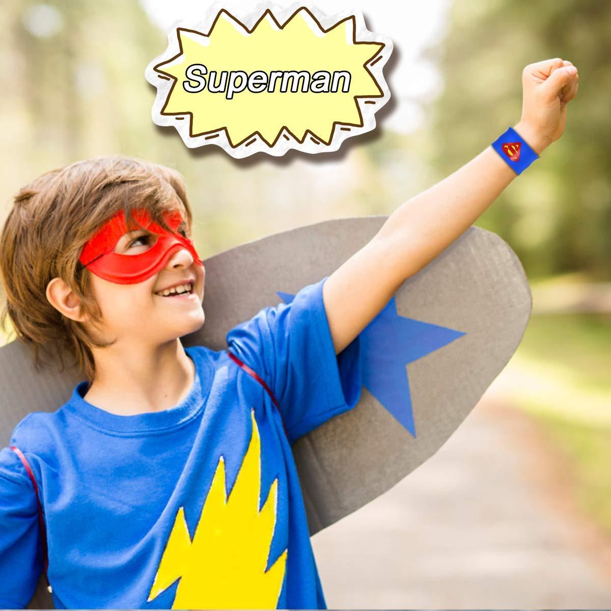 POKONBOY Superhero Slap Bracelets for Kids Party favors - 24 Pack Slap Bracelets for Boys Girls Kids Super Hero Birthday Party Favors Supplies Carnival Boys Prizes by POKONBOY (Image #7)