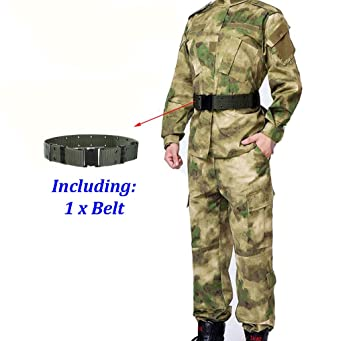 ATAIRSOFT Hombres Tactical BDU Combat Uniform Jacket Shirt & Pants ...