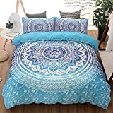3 Pcs Bohemian Luxury Boho Bedding Crystal Arrays Bedding Quilt Bedspread Mandala Hippie Duvet Cover Set Twin Size