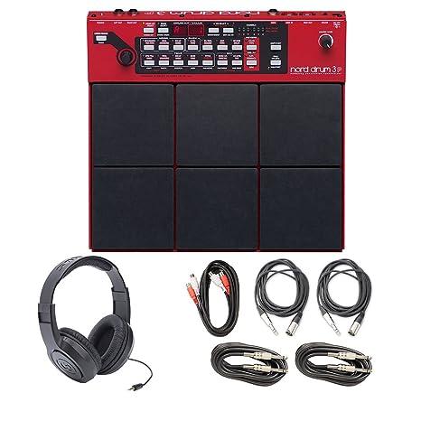 Nord Drum 3P modelado Percussion sintetizador con cables y auriculares