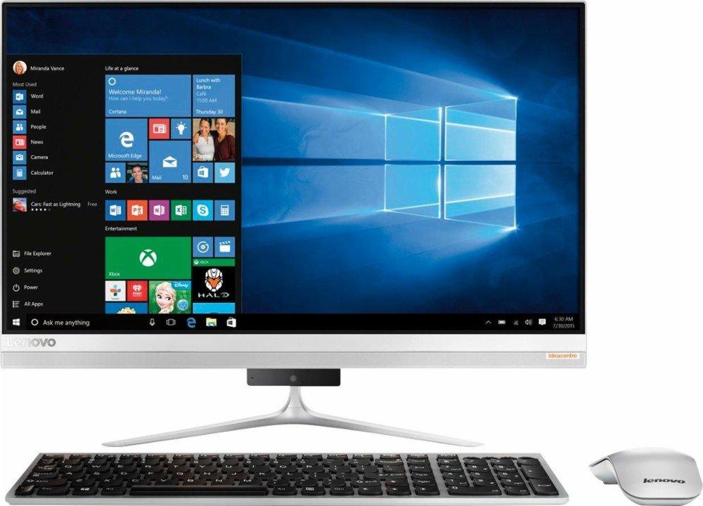 2017 Newest Lenovo Premium 520S 23'' Full HD 1920 x 1080 Touchscreen All-In-One Desktop, Intel i7-7500U, 8GB DDR4 RAM, 1TB HDD, DVD, HDMI, Bluetooth, 802.11ac, Wireless keyboard and mouse, Windows 10
