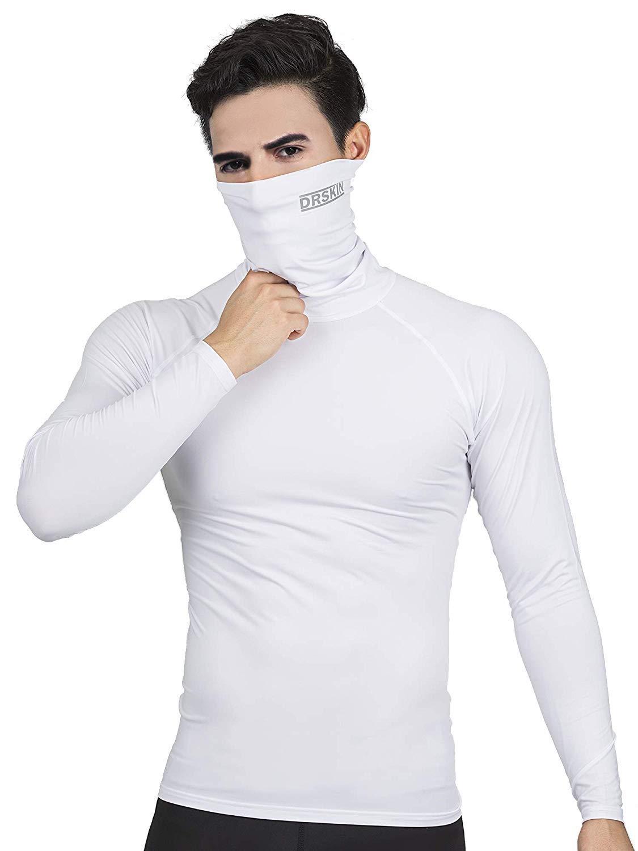 DRSKIN Turtleneck Compression Top Thermal Cool Dry Sports Shirt Baselayer Running Long Sleeve Men