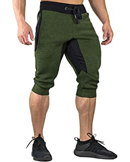 Alion Mens Fashion Sport Casual Harem Training Jogger Short Baggy Pants