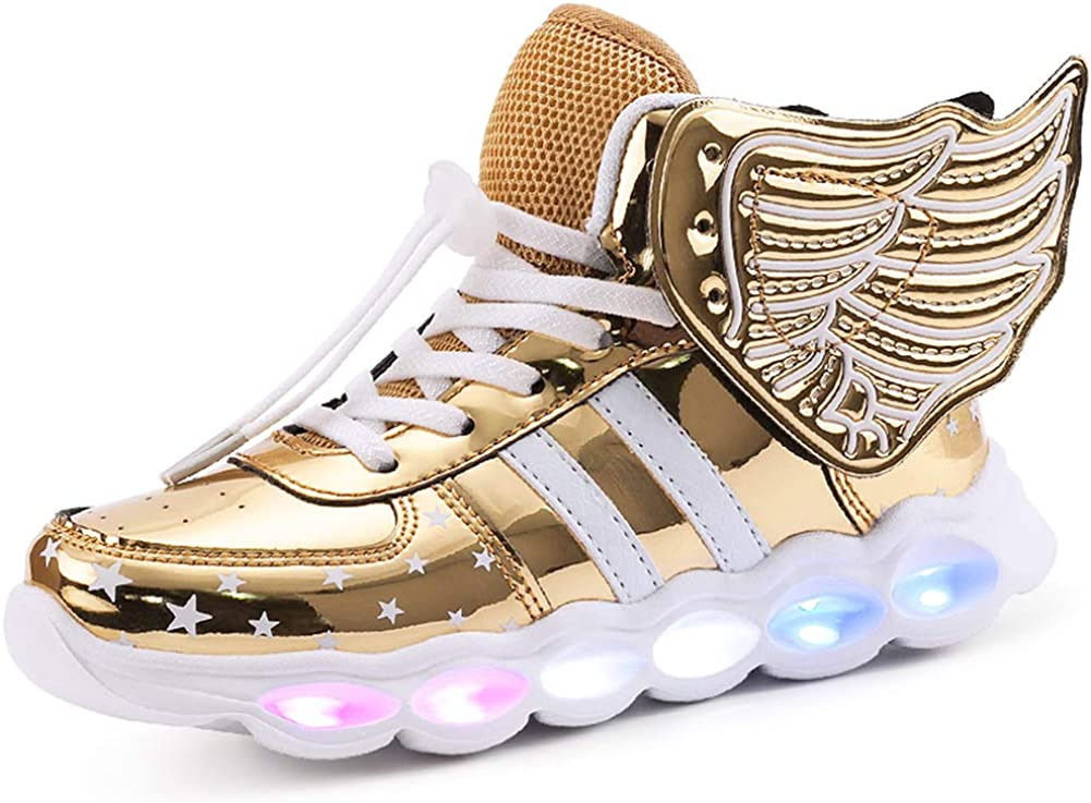 Toddler//Little Kid//Big Kid FG21ds21g LED Shoes High Top USB Charging for Boy/&Girls Light Up Flashing Shoes
