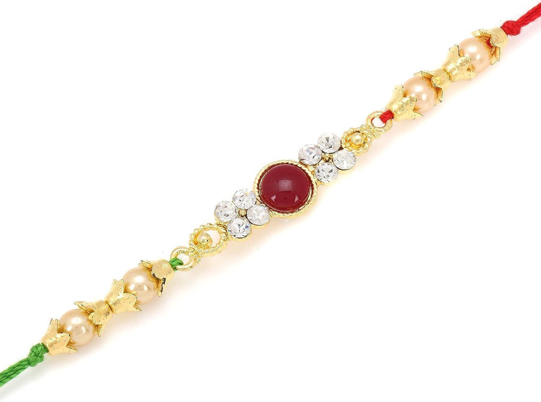 Raksha Bhandan Handmade Rakhi Bracelet for Brother Bhaiya Celebration of Hindu Festival Design 1