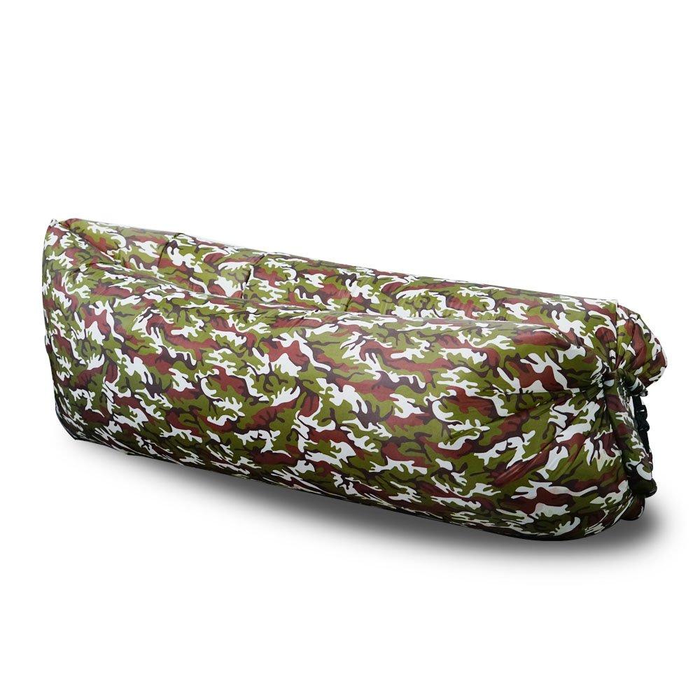 Trumpo gonfler Portable Chaise longue Lazy Sac de couchage camping Pouf pour se d/étendre ext/érieur p/êche Et/é veille de lair Int/érieur Sofa Laybag Canap/é lit EN NYLON /étanche pliable plage