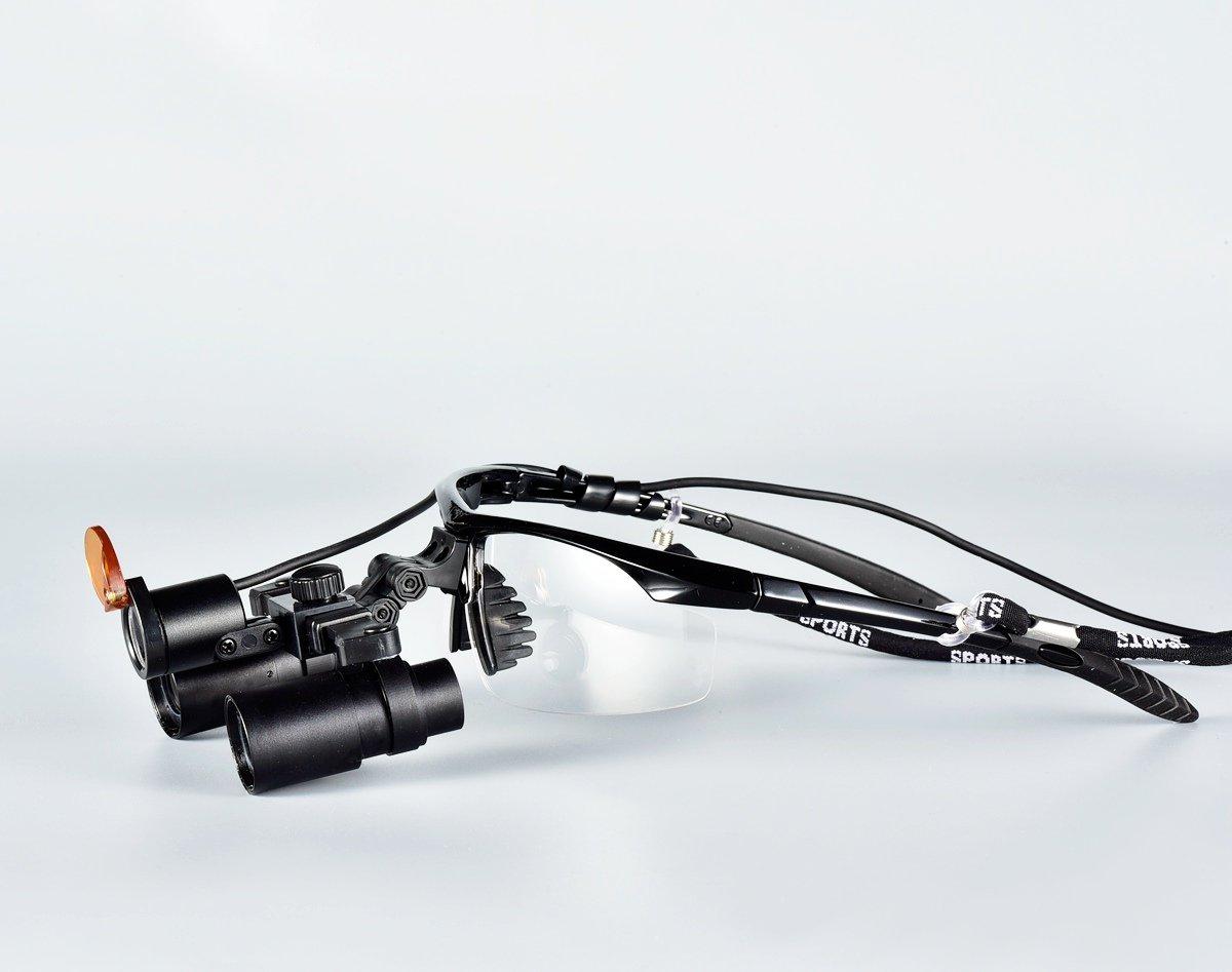 Songzi Optics 4X Sport Frame Kepler Binocular Surgical Dental Loupes with LED Dental Headlight