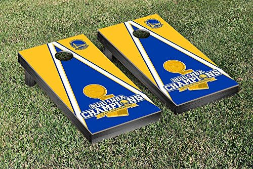 2015 NBA Champions Golden State Warriors Cornhole Game Set Triangle Version by Victory Tailgate