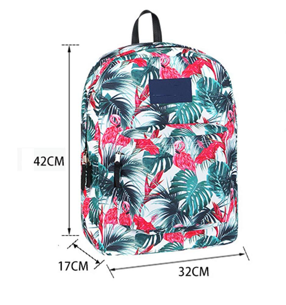 ATI HW School Bags Flamingo Teenager Girls Boys Oxford Fabric Traveling Rucksack for Travel//Business//College//Women//Men-Black
