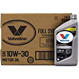 Óleo de motor Valvoline Advanced Full Synthetic SAE 10W-30 1 QT, caixa com 6