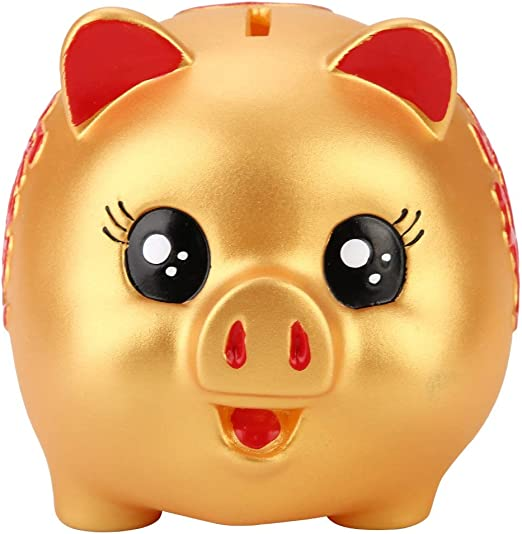 Plastic Piggy Bank Coin Money Cash Collectible Saving Box Pig Toy Kids Gift