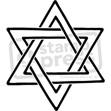 Amazon.com: Large A2 \'Star Of David\' Wall Stencil / Template ...