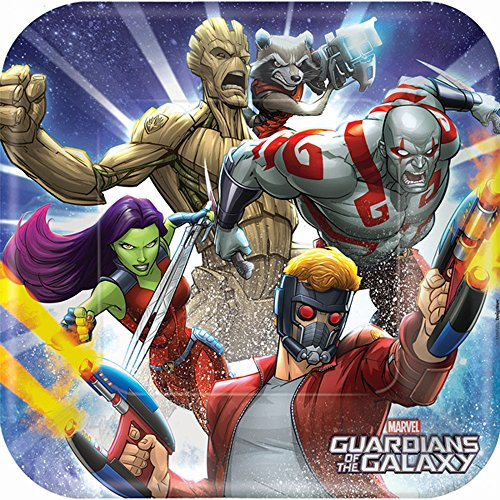 Guardians of the Galaxy Cartoon Large Paper Plates (8ct)