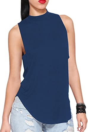 259619c8ad97e Pink Queen Women s Sleeveless Halter Neck Backless Tank Tops T Shirt S Blue