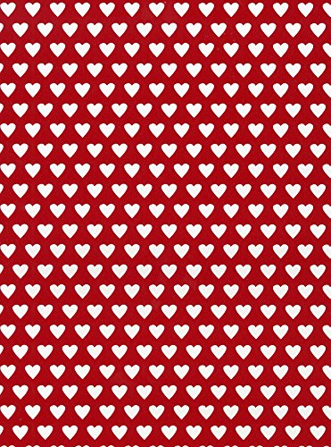 Valentine Love Hearts Gift Wrapping Paper Flat Sheet - 24