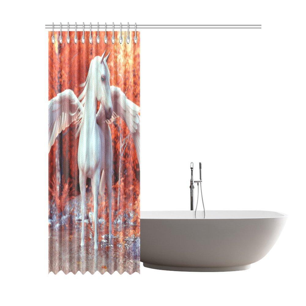 Amazon.com: Shower Curtain Mythical Pegasus Polyester Fabric Print ...