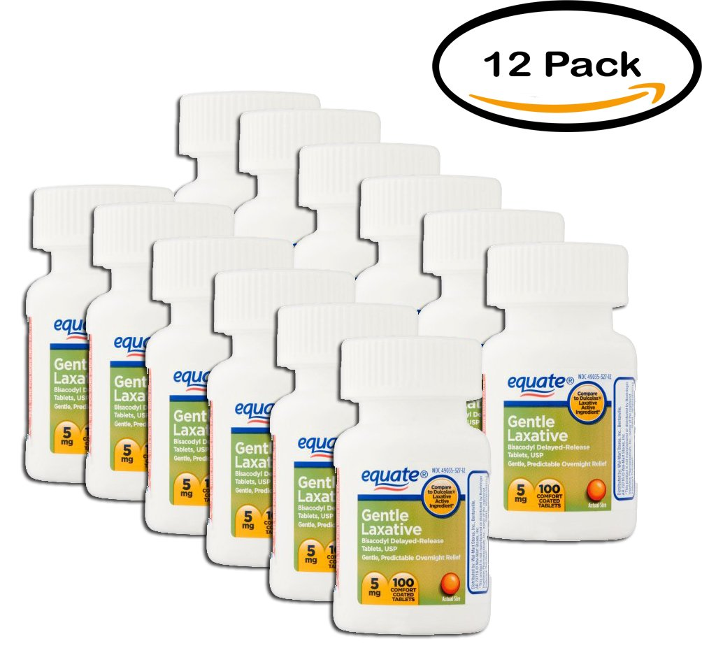 PACK OF 12 - Equate Gentle Laxative, 100 ct