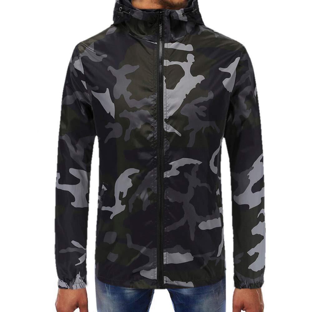Makeupstore Sweatshirts for men hoodies, Camouflage Pullover Long Sleeve Hooded Sweatshirt Tops Blouse