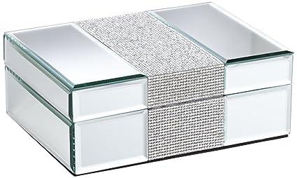 Amazoncom Dahlia Studios Lyza Rhinestone Mirrored Jewelry Box