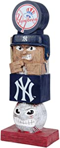 Rico Industries, Inc. Yankees 16 Inch Tiki Totem Pole Outdoor Resin Home Garden Statue Decoration Baseball