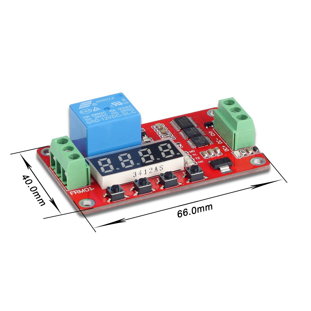 Uctronics Dc 12v Programmable Multifunction Time Delay Relay Module 1pcs Turn On Off Switch With Segment Leds Display H L Level Trigger For Smart Home Automatic Control U6030