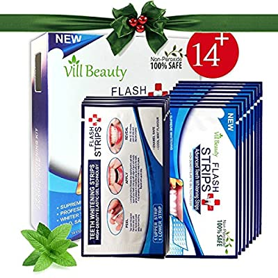 28 Teeth White Strips - 3D White Strips Much Better than Teeth Whitening Powder and Teeth Whitening Kits, Professional and Best Teeth White Strips, Non-Peroxide 100% Safe [2018 UPGRADED]