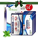 28 Count Teeth White Strips - 3D White Strips Much Better than Teeth Whitening Powder and Teeth Whitening Kits, Professional and Best Teeth White Strips, Non-Peroxide 100% Safe [2018 UPGRADED]
