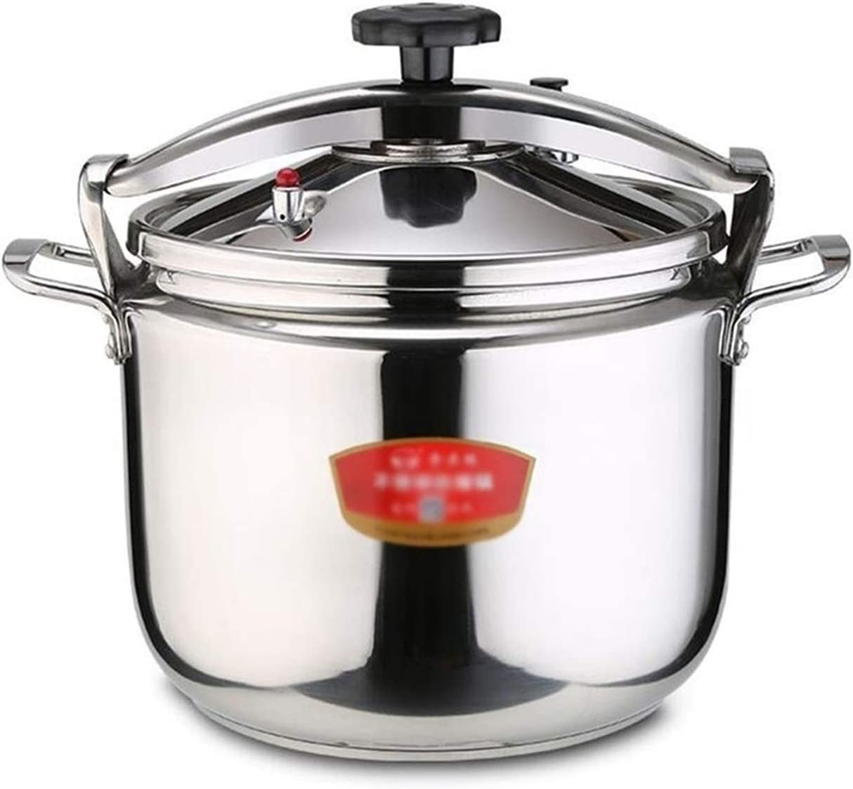 Commercial explosion-proof pressure cooker 304 stainless steel large capacity super thick pressure cooker induction cooker hotel gas general induction cooker 15L-50L (Color : Silver, Size : 22L)